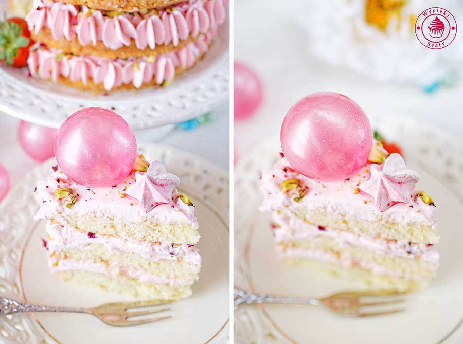 tort truskawkowy z kremem