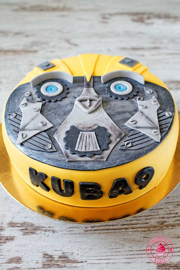 tort dla chłopca transformers