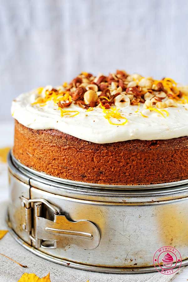 ciasto korzenne pomarańczowe z kremem