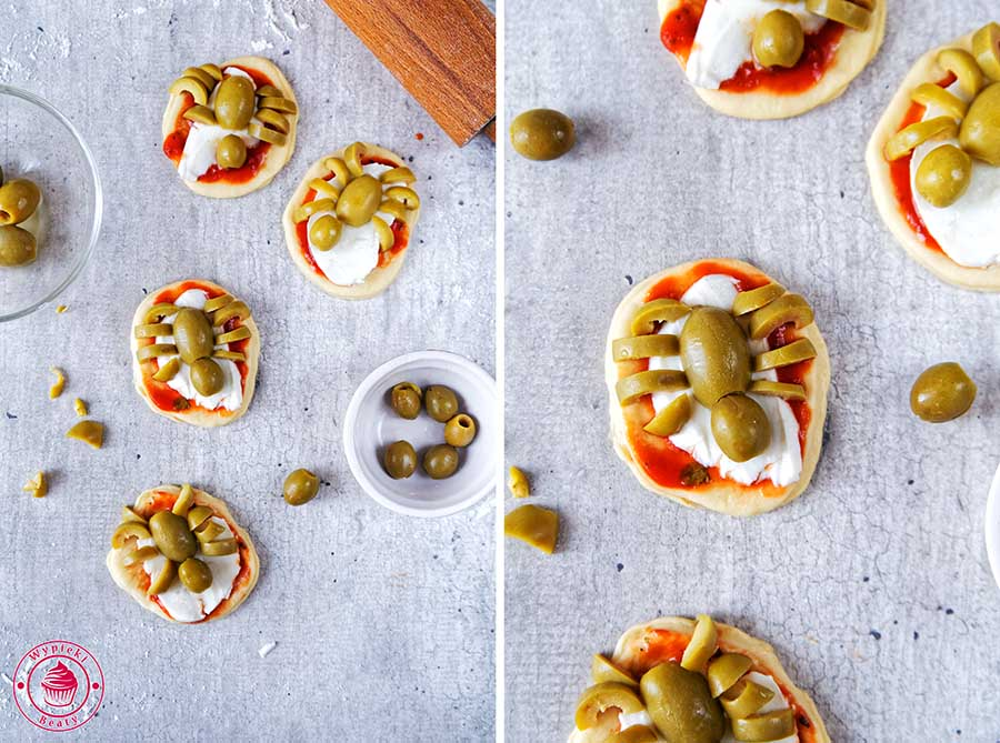 mini pizze na halloween