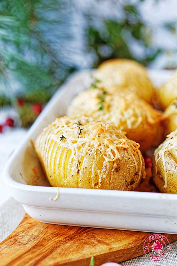 ziemniaki pieczone hasselback
