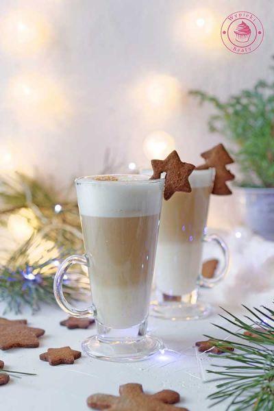 bożonarodzeniowa kawa latte
