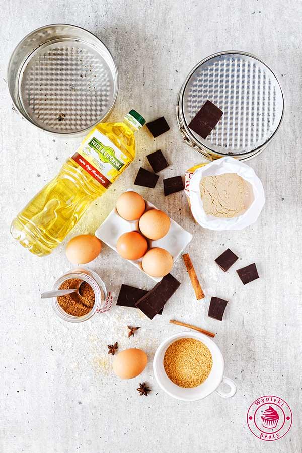 tort czekoladowy z olejem wielkopolskim