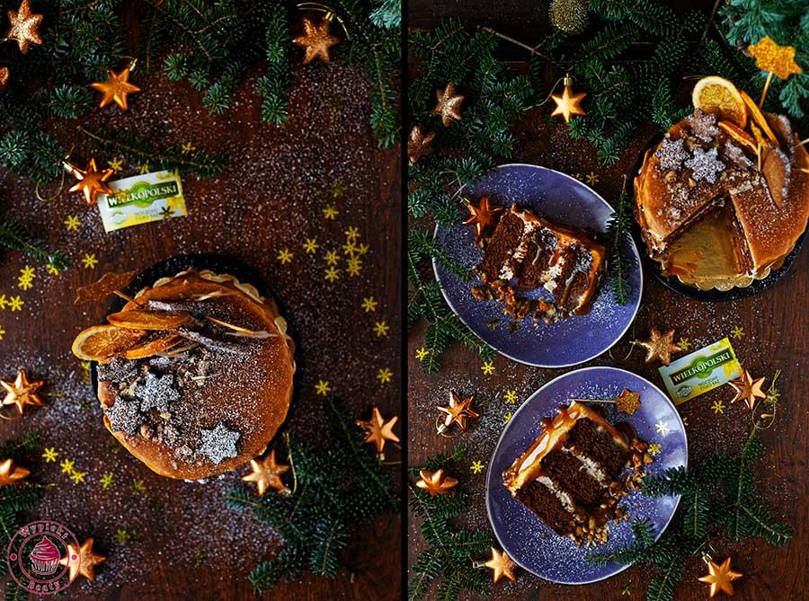 korzenny tort czekoladowy na boże narodzenie
