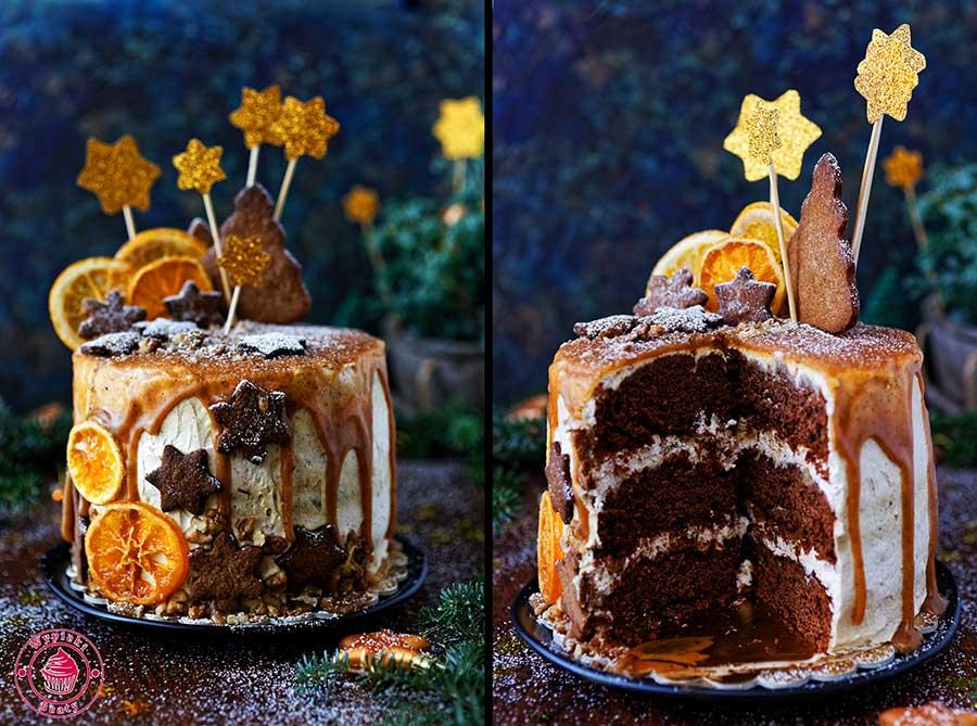 piernikowy tort z winem
