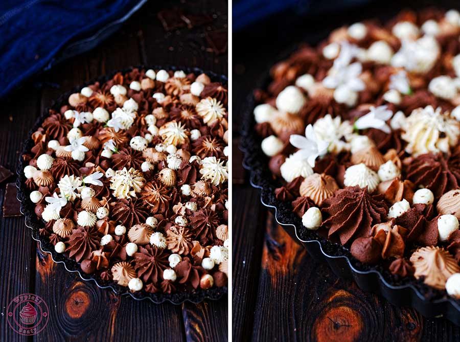 tarta czekoladowo-pomarańczowa bez pieczenia