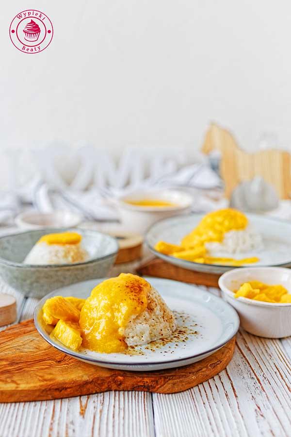ryż z mleczkiem kokosowym i mango