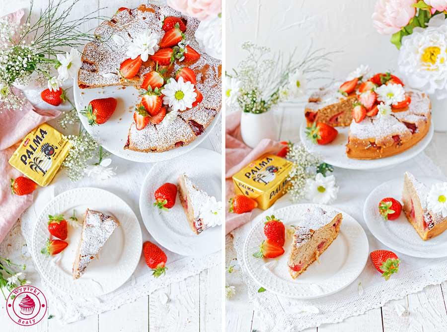 ciasto z truskawkami i kisielem
