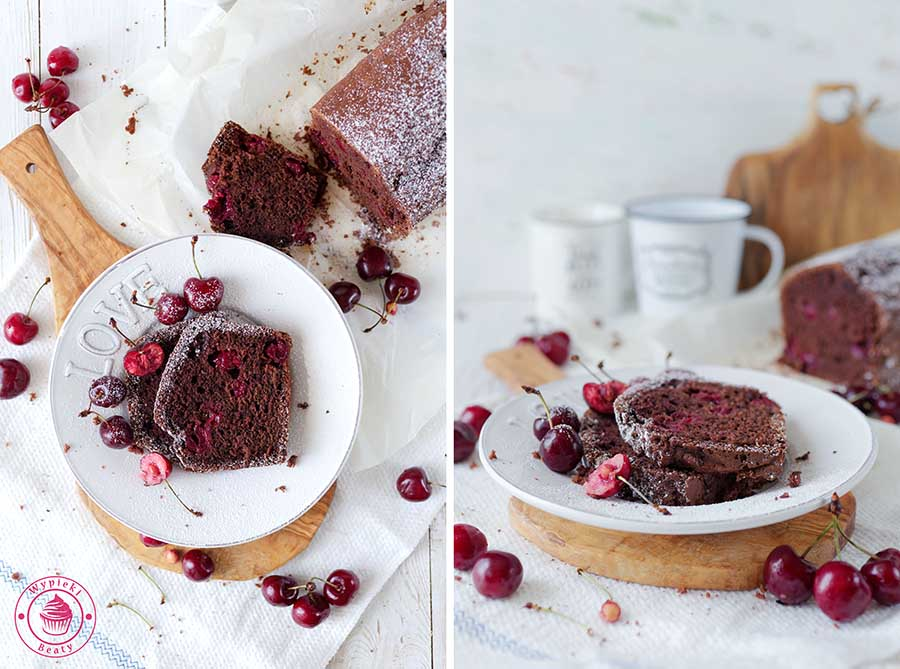 ciasto czekoladowe z wiśniami