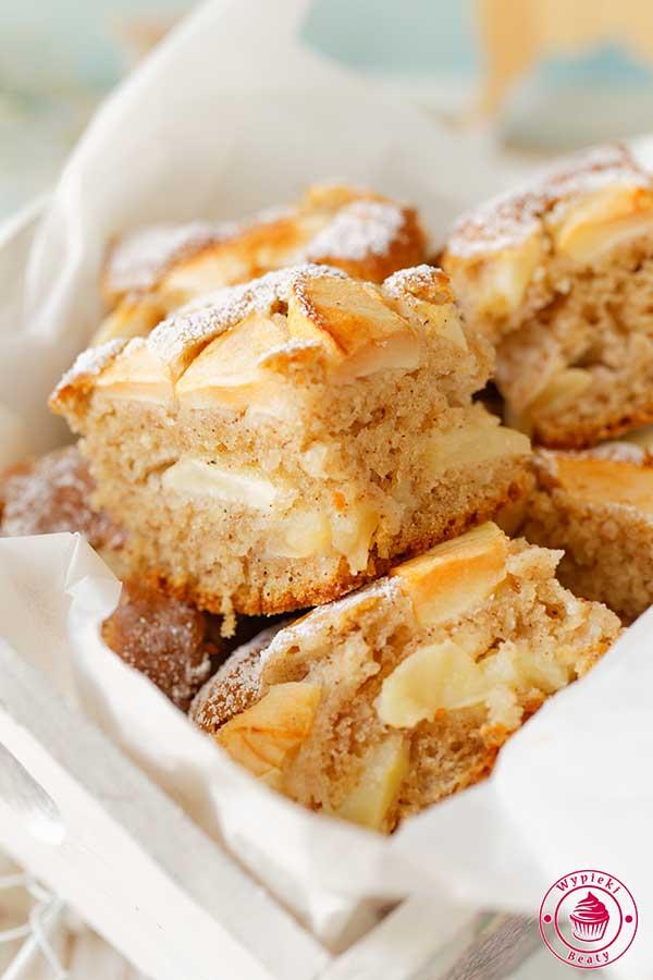 ciasto z jabłkami bez miksera
