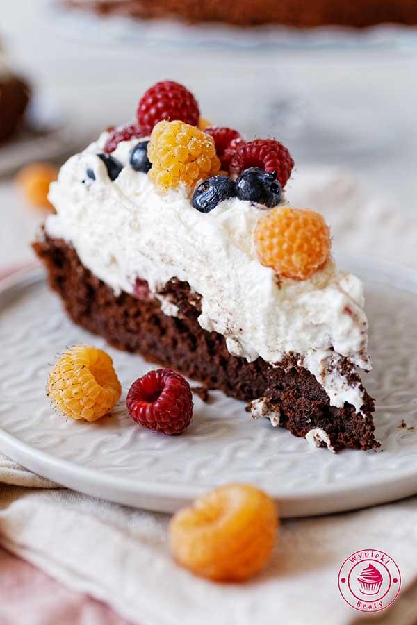 ciasto czekoladowa chmura