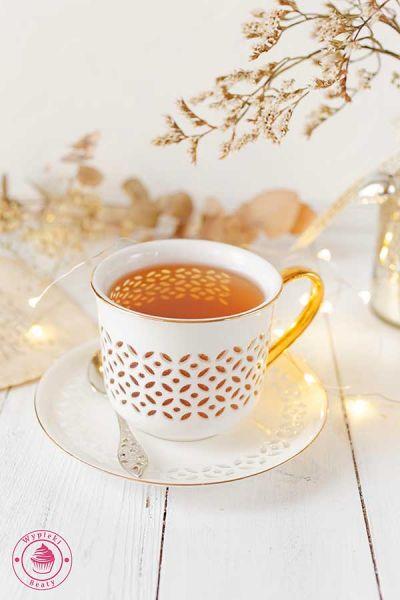 jesienna herbata w filiżance