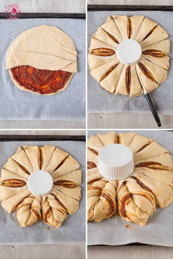 ciasto drożdżowa gwiazda