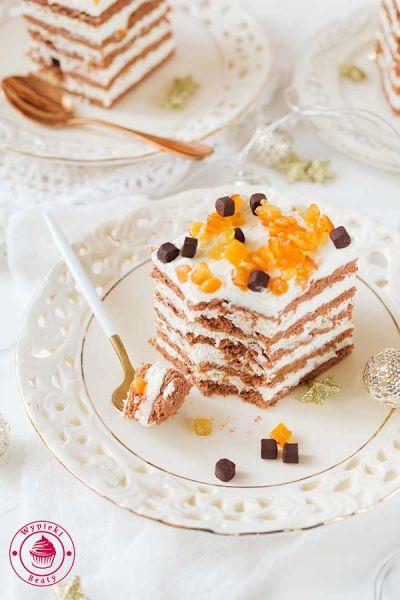 ciasto bez pieczenia czekoladowo-pomarańczowe