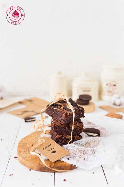 ciasto czekoladowe z ciasteczkami