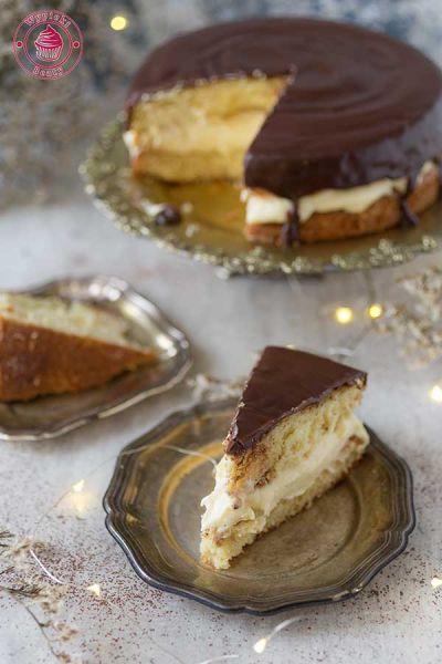 ciasto z kremem i czekoladą