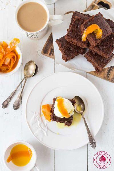 czekoladowe ciasto z cieciorką