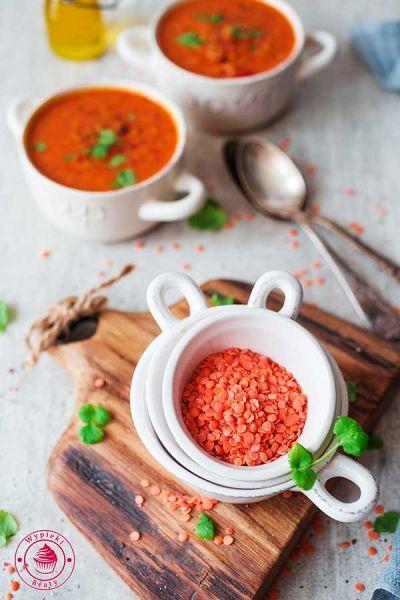 zupa z soczewicy i pomidorów