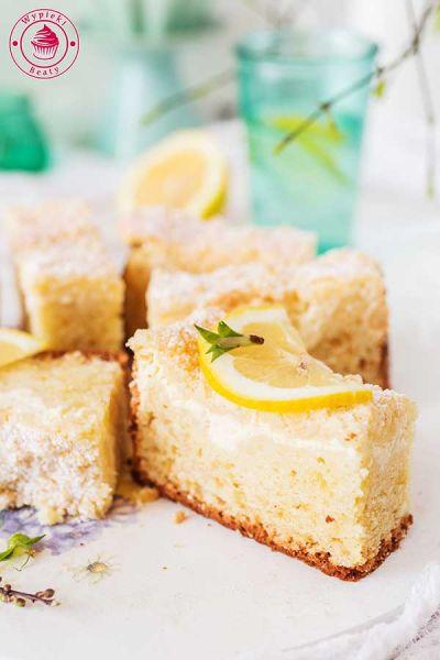 greckie cytrynowe ciasto z twarogiem