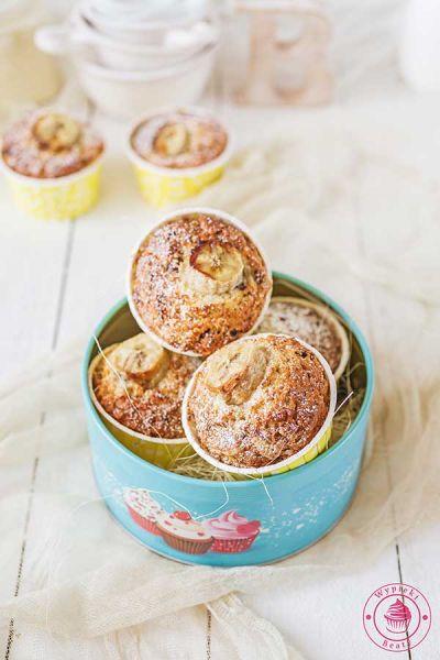 muffinki kokosowe z bananami