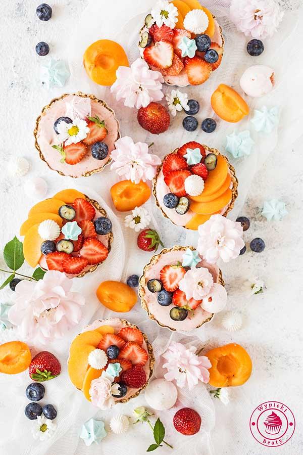 tarty owocowe bez pieczenia