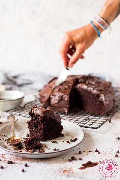 ciasto czekoladowe z ganache