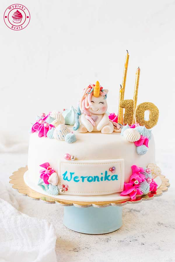tort jednorożec Weroniki