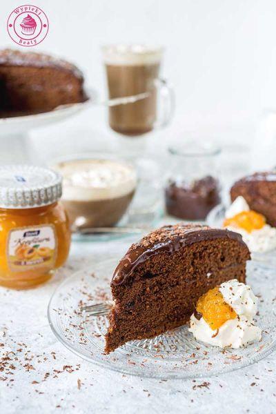 ciasto czekoladowe z morelami