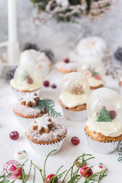 bożonarodzeniowe babeczki waniliowe