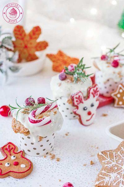 piernikowe muffiny z białą czekoladą