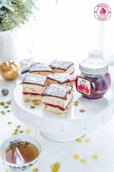 ciasto karmelowe z wiśniami