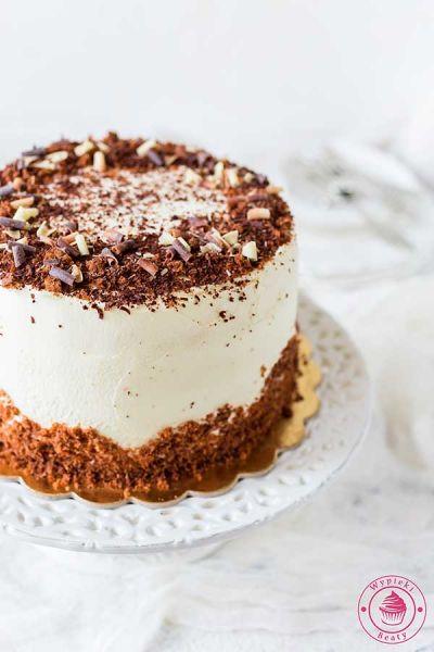 tort tiramisu z czekoladą