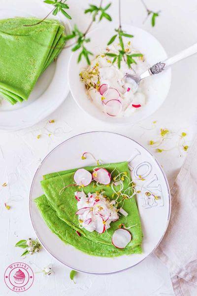 zielone naleśniki ze szpinaku