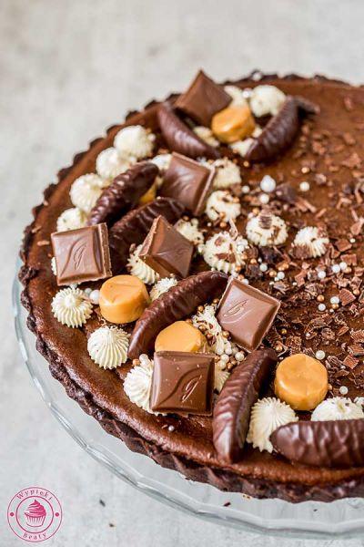 tarta z kremem czekoladowym