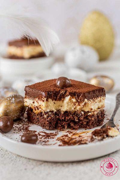 czekoladowe ciasto z mlekiem w proszku