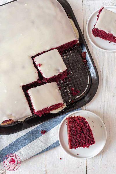 czerwone ciasto red velvet